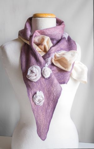 Felted Silk Scarves Handmade