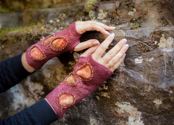 fingerless gloves arm warmers
