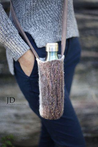 Felted Wool Water Bottle Holders