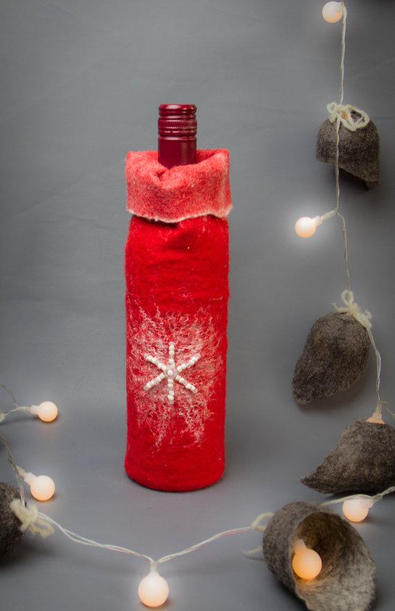 Felt Wine Tote Christmas