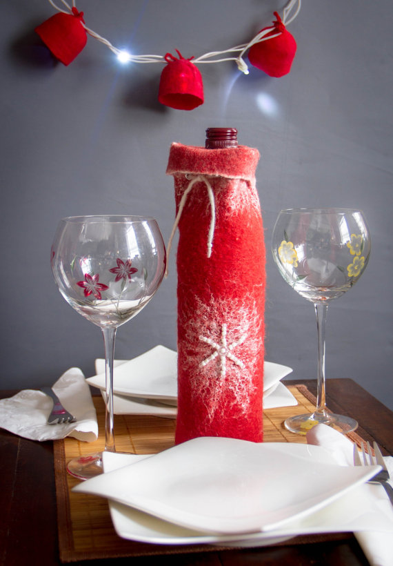 Felted Wine Tote Christmas gift