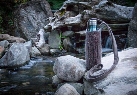 Felt Wool Water Bottle Holders Brown