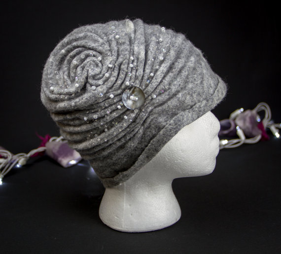 Felted-gray-hat