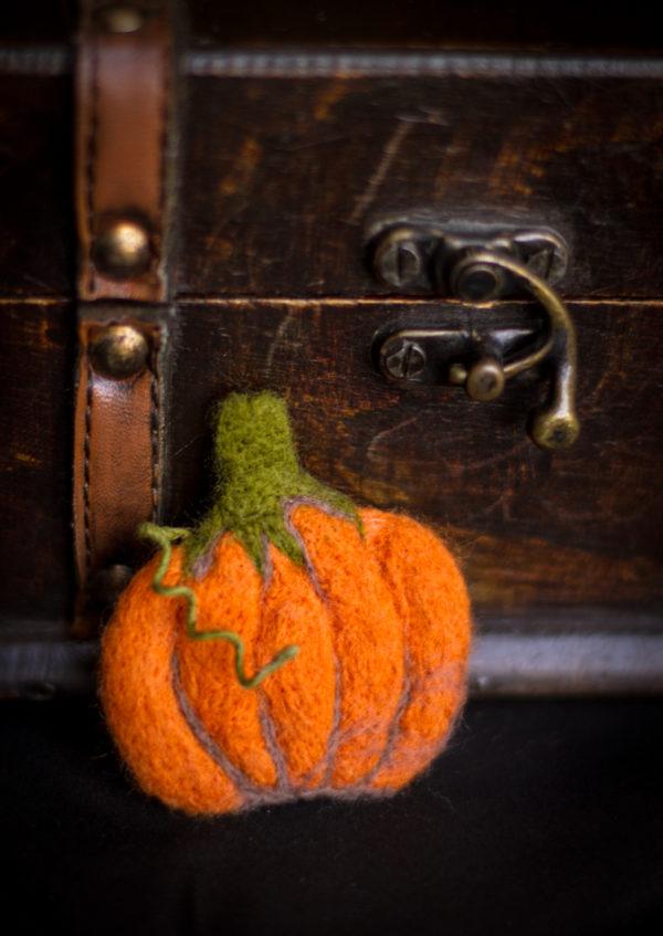 felted pumpkin