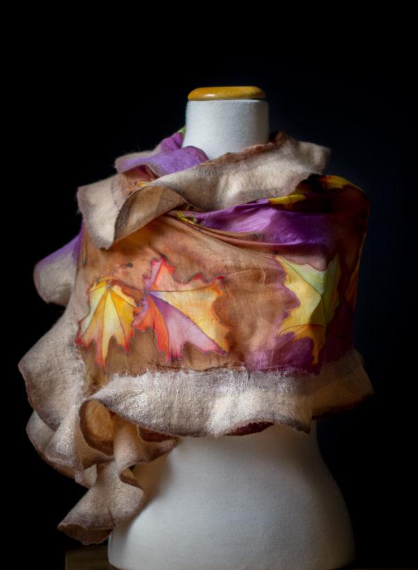 Batik patterned shawl scarf