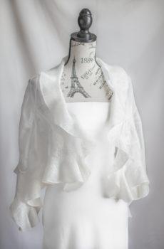 Wedding bridal silk wrap