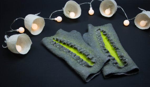 beaded gloves fingerless women