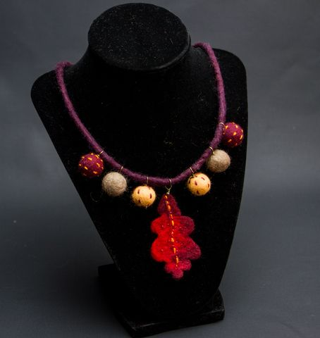 felted Autumn Necklace