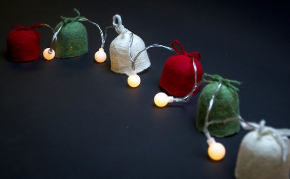home decor Christmas garland of Lanterns