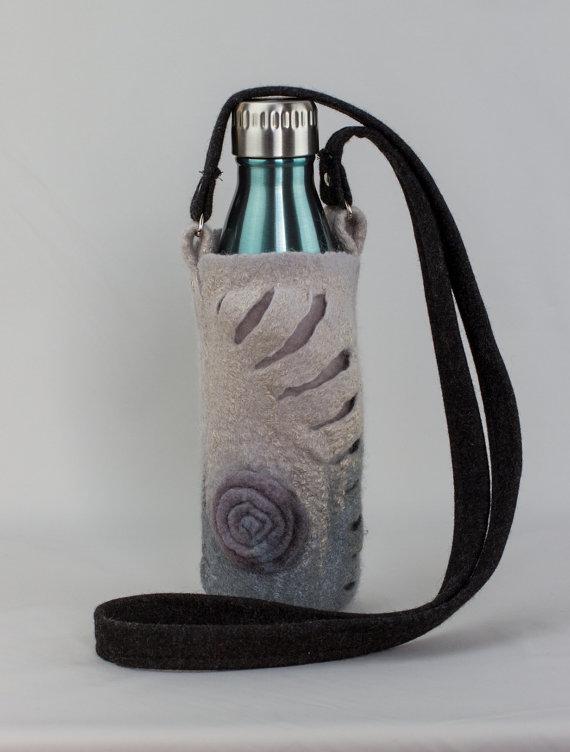 Hand Felted water bottle holder