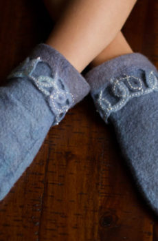 Felted mittens for children
