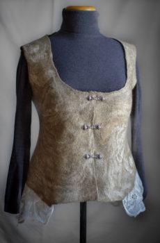 Handmade felted vest