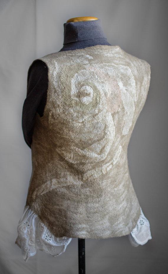 Wool felted vest