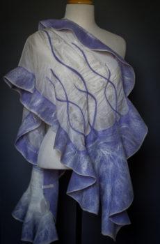 — Nuno felted shawls