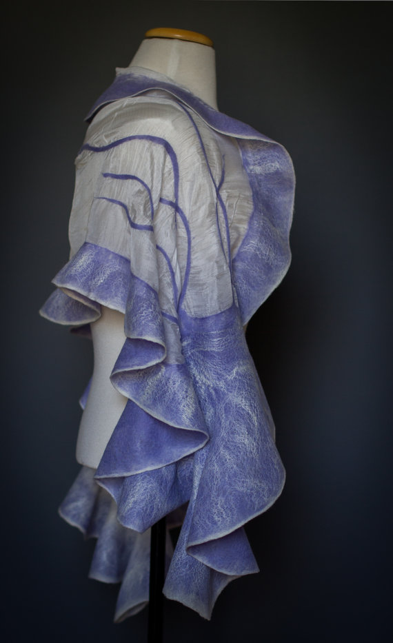 Nuno felted shawl handmade