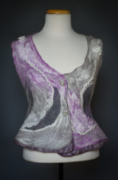 Felted vest purple