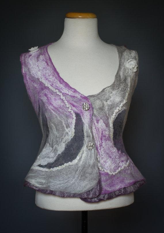 Felted vest purple