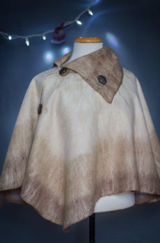 felted poncho with collar