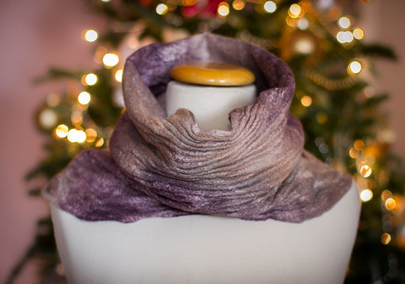 FELTED SNOOD STYLISH SHIBORI SCARF