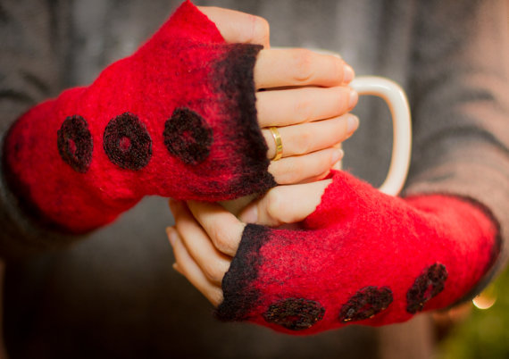 felted arm warmers
