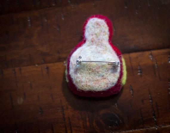 Felted art fabric matryoshka doll