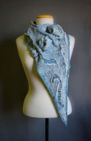 Felted-blue-boho-scarf