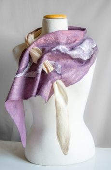 Felting-wearable-Scarf