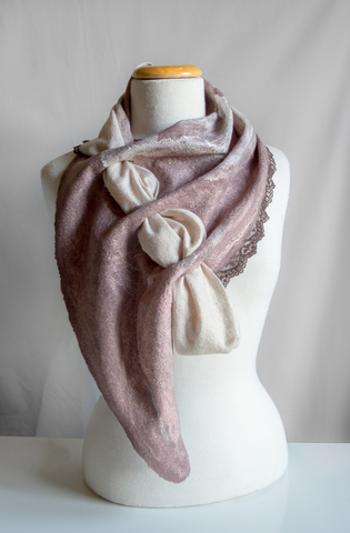 Handmade felted scarf