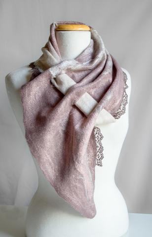× Описание Заголовок Wool nuno felted scarf