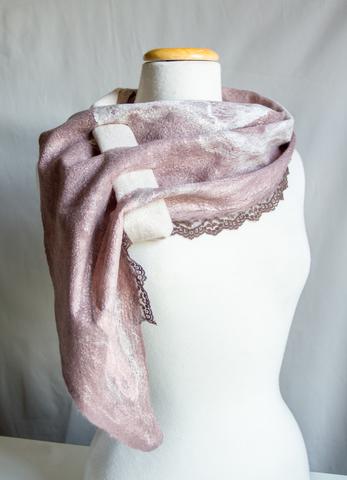 Unique Nuno Felted scarf