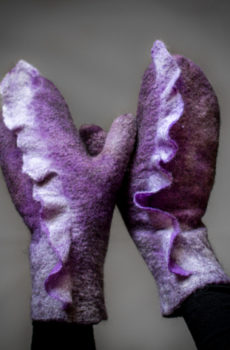 Felted mittens wool Gloves