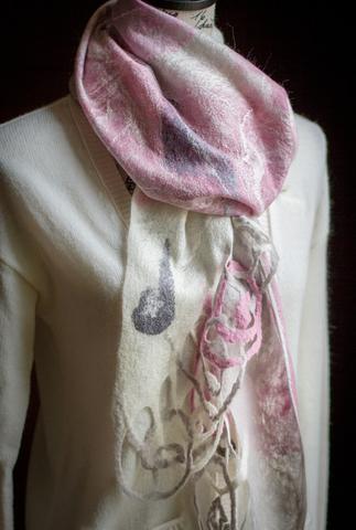 Felted Filigree scarfs