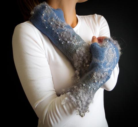 beaded arm warmers