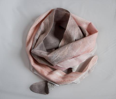 cherry blossom art felted scarf