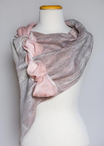 Felted wool accessory scarf