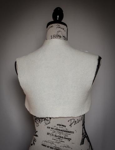 wedding Bolero hand felted ivory shrug wearable art