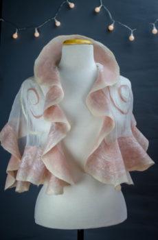 Nuno felted sikl scarf handmade