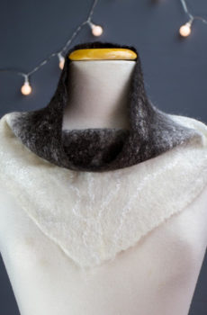 felted Alpaca snood Scarf