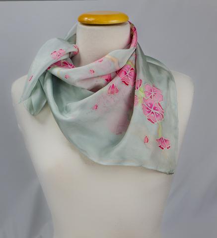 batik Silk Scarf cherry blossom