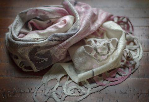 nuno felt wool scarf
