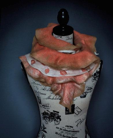 nuno felted ruffle scarf