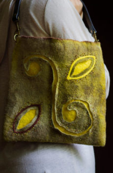 yellow-Purse-Felted-Bag