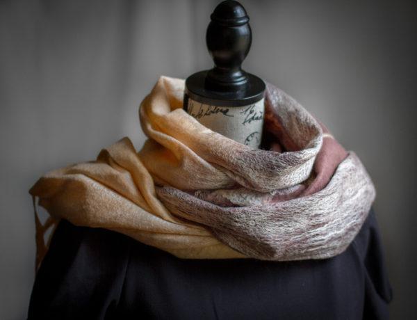 felted elegant and stylish shawl