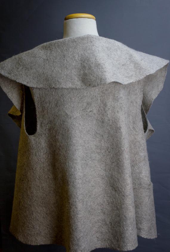 grey, felted clothing