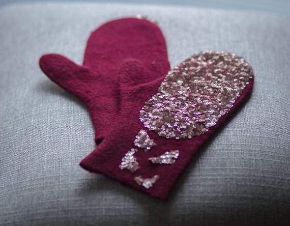 wool Gloves, Felted
