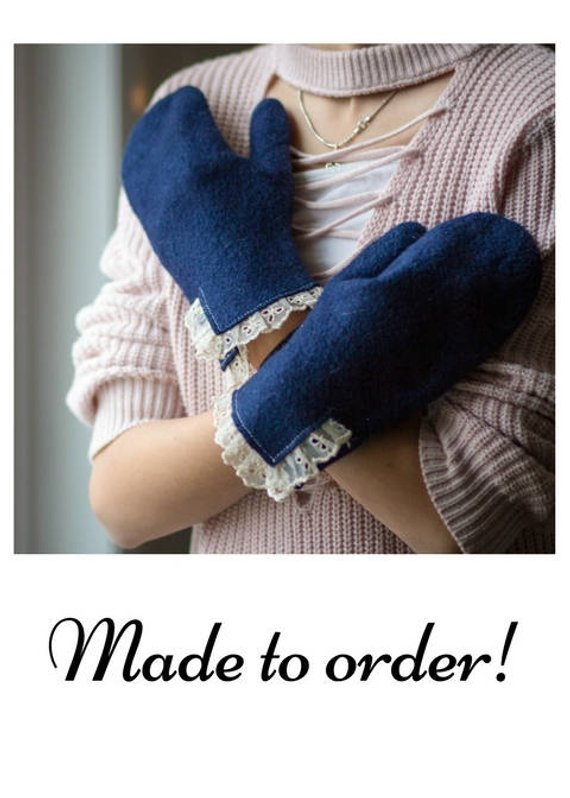 Felted mittens, wool Gloves