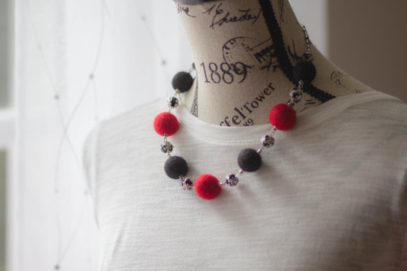 wool unique jewelry necklace