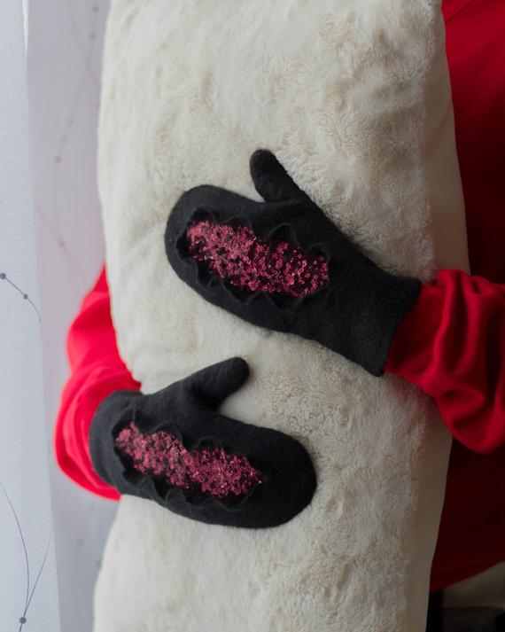 Felted Wool Gloves