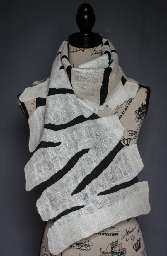 silk shawl felting