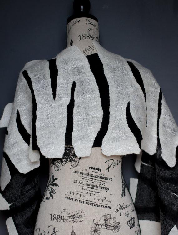 felt silk shawl